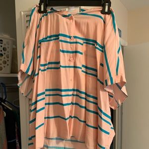 Lularoe top. Light pink and green stripes.